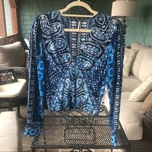 Free People cropped paisley top. SM New with tags